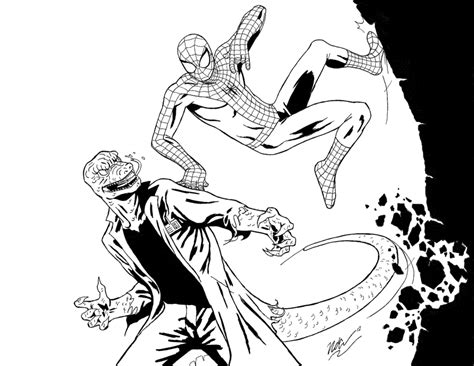 lizard spiderman coloring pages spiderman vs lizard coloring pages super heroes