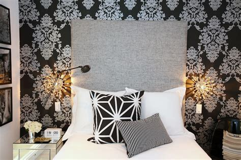 damask wallpaper bedroom photos and video black and white damask wallpaper contemporary bedroom