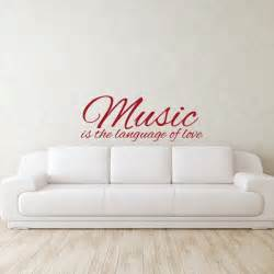 Wall Stickers Love Quotes music love quote wall decal wall decal world