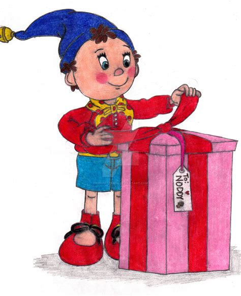 noddy painting a present for noddy by krofftfan96 on deviantart