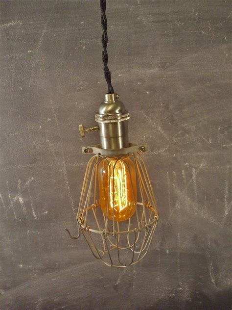vintage industrial pendant vintage industrial style cage light machine age