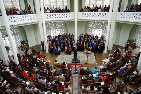 festival choir uplifts as voices soar into temple dome