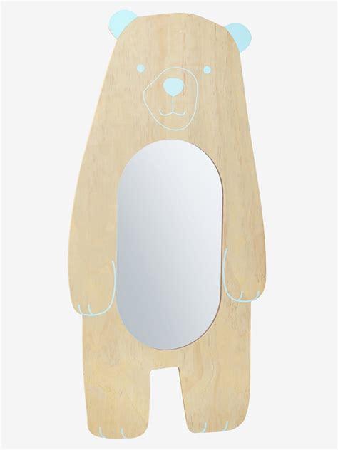 miroir chambre enfant miroir enfant xl ours bois vert vertbaudet
