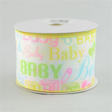 Babby Ribbon 2 2 5 quot baby white satin ribbon 10 yards rg1421