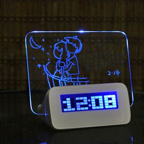 lcd display alarm clock with memo board 003 oem white jakartanotebook