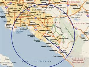 orange county california map service is provided only