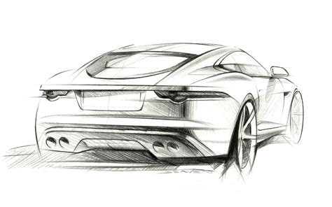 C Sketches by 2014 Jaguar F Type R Coupe Sketches 9 1920x1200