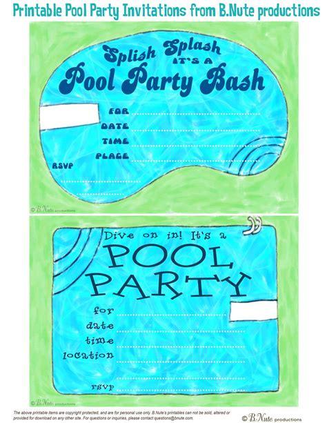 Free Printable Pool Party Birthday Invitations Best Party Ideas Pool Invitation Templates Free