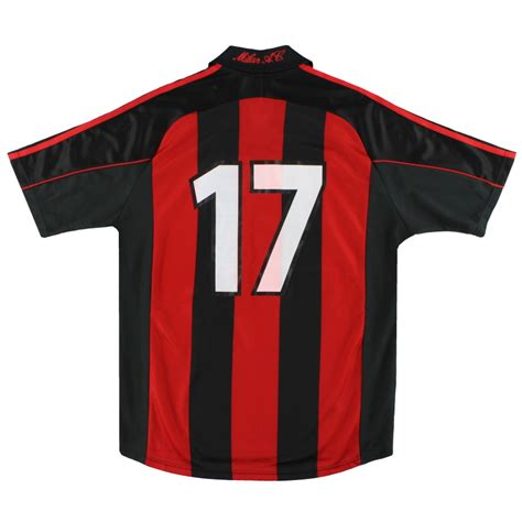 ac milan adidas player issue home shirt    sale