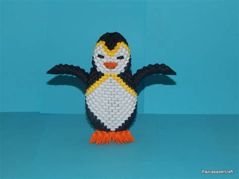 tutorial origami penguin razcapapercraft 3d origami penguin tutorial
