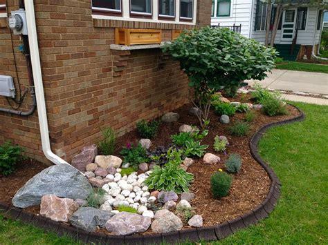 rock garden features rock garden feature utilizes water from downspout