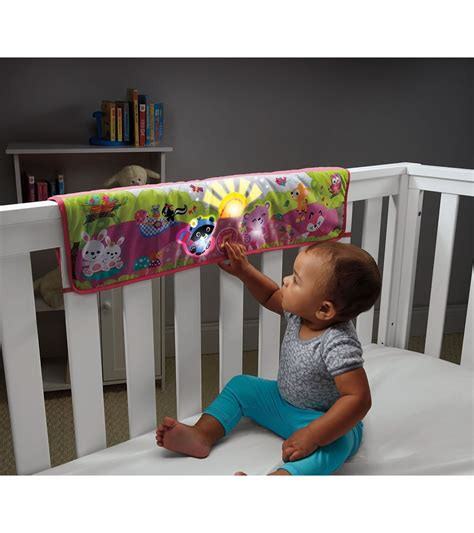 Baby Soothers For Crib Fisher Price Woodland Friends Twinkling Lights Crib Rail Soother Pink
