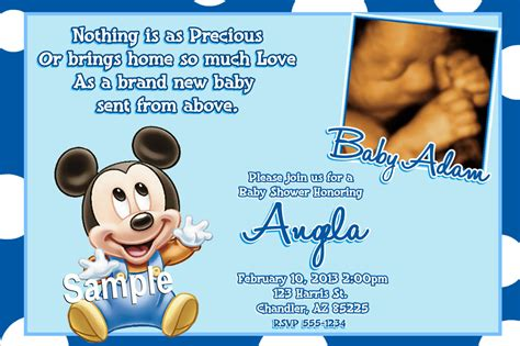 baby mickey mouse invitation template mickey mouse baby shower invitations baby mickey mouse baby