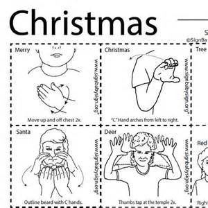 flash cards christmas asl teaching resources