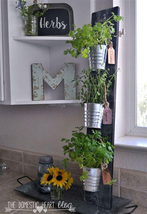diy simple vertical kitchen herb garden hdgiftchallenge