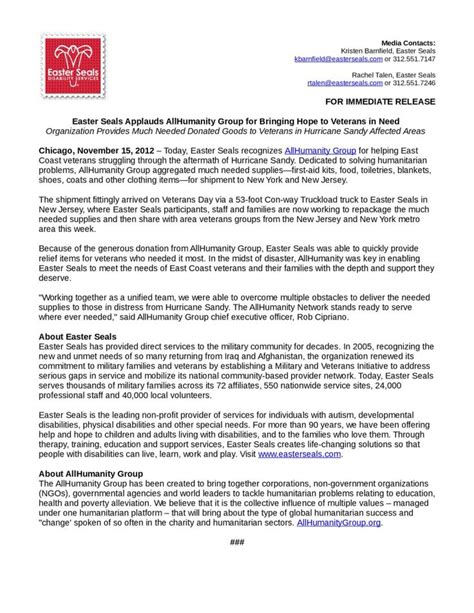 easter seals application form press release from easter seals on allhumanity superstorm