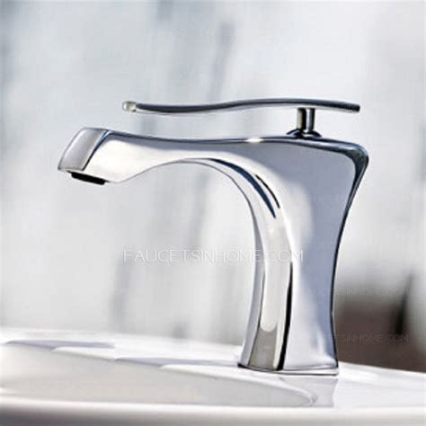 cool designed copper chrome bathroom sink faucet one