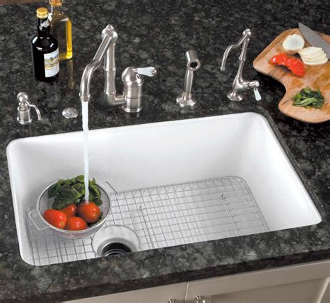 white porcelain undermount kitchen sink rohl kitchen sinks