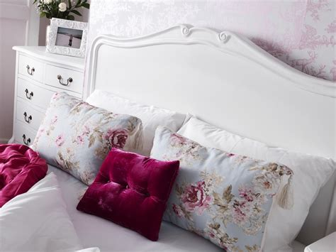 shabby chic white double bed