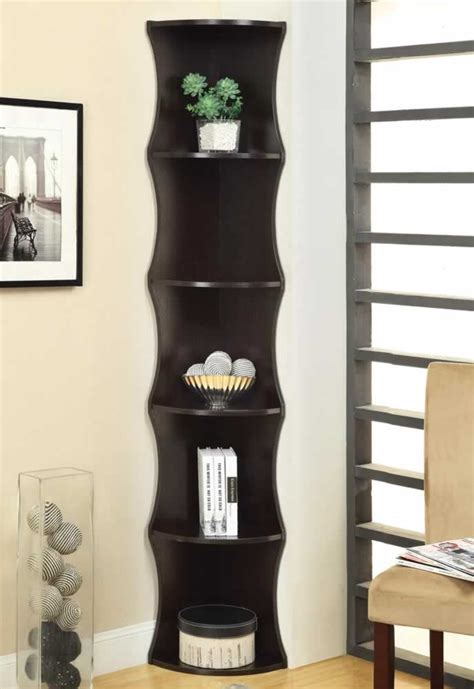 narrow corner bookcase discount corner bookcase