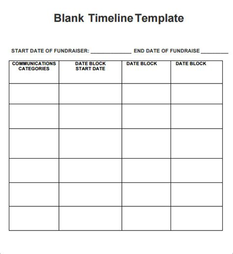 timeline template free documents in word excel