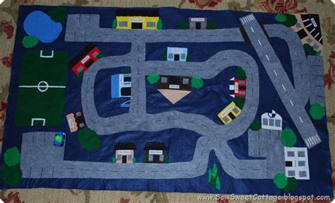 Boys Play Mat by Sew Sweet Cottage Home Made Presents For Boys The Car