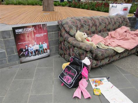 homeless couch surfing free bbq and couch surfing art installation to raise