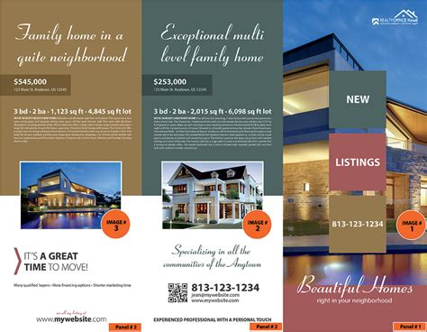 property brochure template free real estate brochure template realtor brochure template