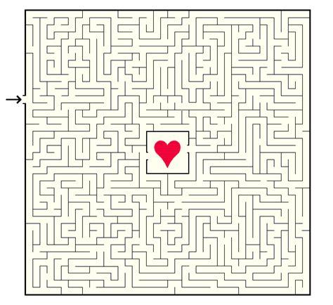 printable valentine s maze valentine maze with a hidden message ted s fun games world