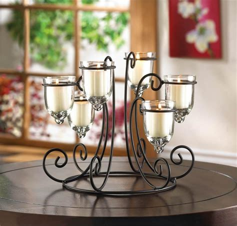 Metal Candle Holders Centerpieces Wedding Centerpiece Candle Holder