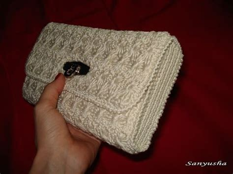 Dompet Pesta Flower Luxury Evening Clutches crochet handbag tutorial bobble stitch doovi