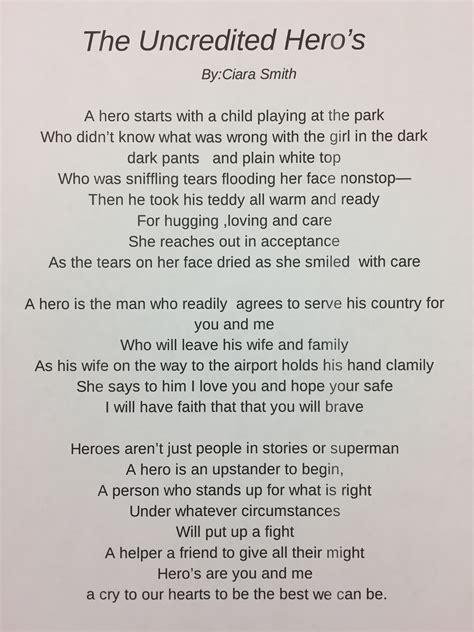 poetry lessons hero poems heroes   kidsbook friends