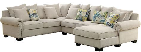 ivory sectional skyler ivory sectional cm6156 furniture of america