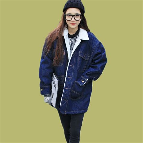 Jfashion S Basic Parka Jacket 12 fashion clothes s winter denim warm jackets flocking with cotton ropa de