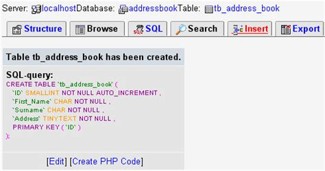 php tutorials: adding records to a phpmyadmin table