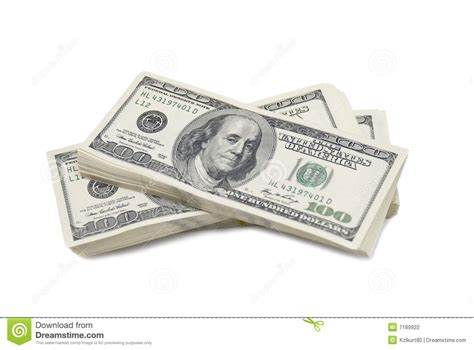 Stack Of $100 Bills Stock Photography - Image: 7189922 $100 Bill Stack