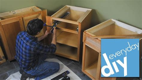 How to install kitchen cabinets buildipedia diy youtube
