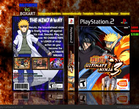 film naruto ultimate ninja 3 naruto ultimate ninja 3 playstation 2 box art cover by