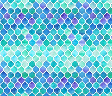 blue moroccan pattern blue and green moroccan pattern fabric micklyn spoonflower