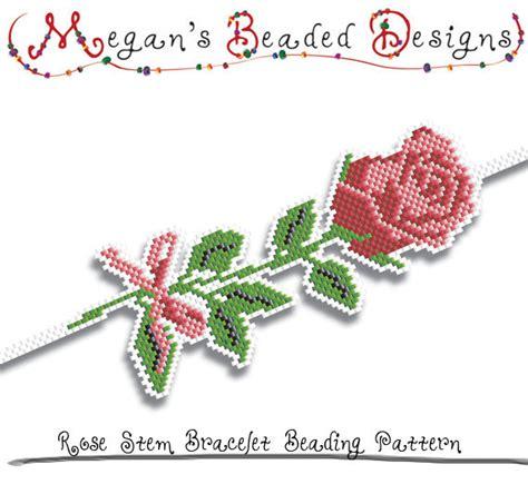 etsy bead pattern bracelet beading pattern rose stem by megansbeadeddesigns