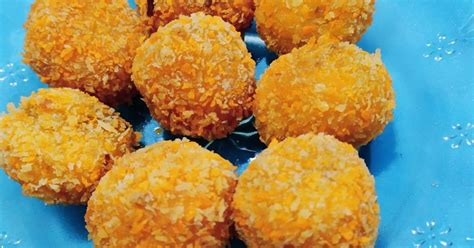 resep bola ubi kuning oleh ana febri cookpad