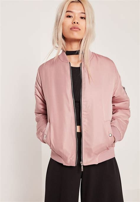 Jaket Pink 1000 ideas about pink satin bomber jacket on