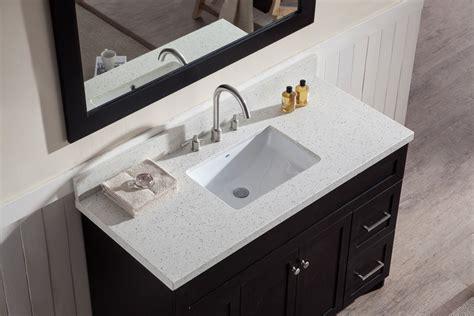 white bathroom vanity with black countertop ariel hamlet 49 quot single sink vanity set with white quartz