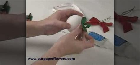 Origami Mistletoe - how to make a paper flower mistletoe 171 papercraft