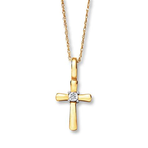 cross necklace 10k yellow gold