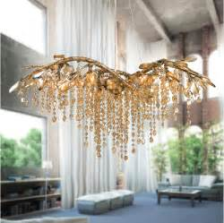 Chandelier Tree Address America Creative Rustic Style Simple Gold Tree