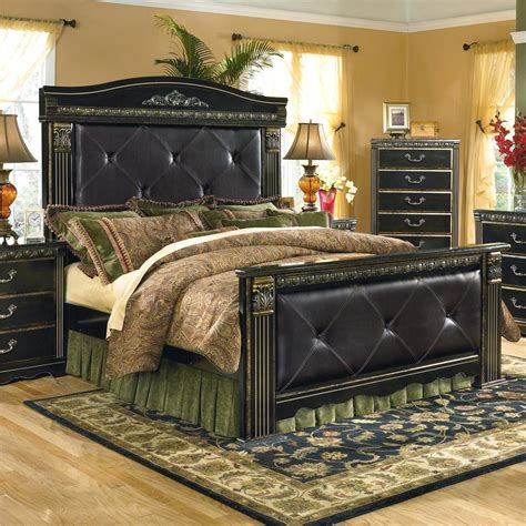 coal creek bedroom set signature design by ashley coal creek upholstered king
