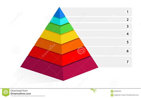 color pyramid maslow pyramid stock vector image 62062633