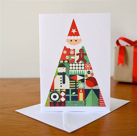 view card room santa santa rudolph and snowman cards by room of imagination notonthehighstreet