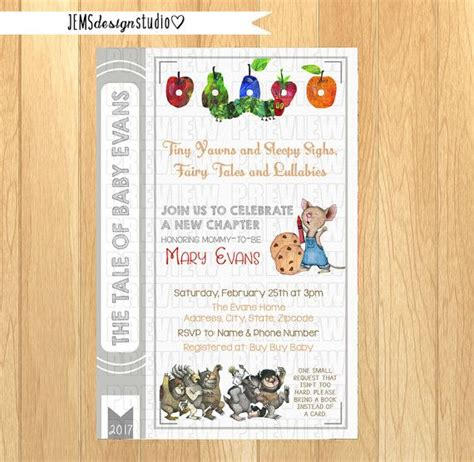 Storybook Themed Baby Shower Invitation Wording by Best 25 Storybook Baby Shower Ideas On